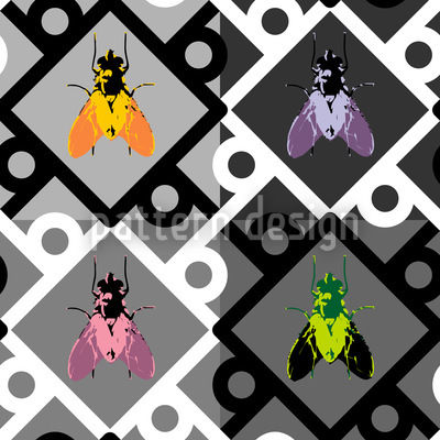 Pop Art Fly Pattern Design