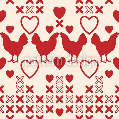 Hühner Haben Grosse Herzen Musterdesign