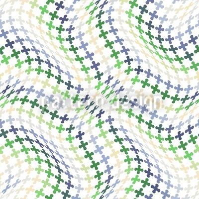 Wellengang Der Kreuze Nahtloses Vektor Muster