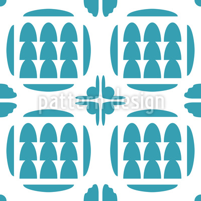 Three Trees Seamless Pattern