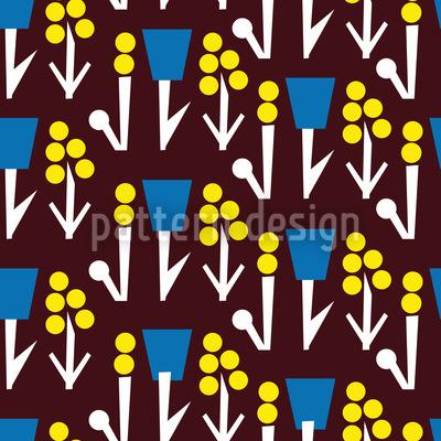 Blumenfantasie Auf Braun Muster Design