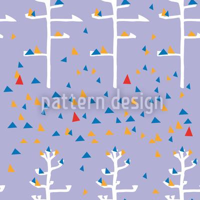 Agavenbäume Im Triangellaub Vektor Ornament