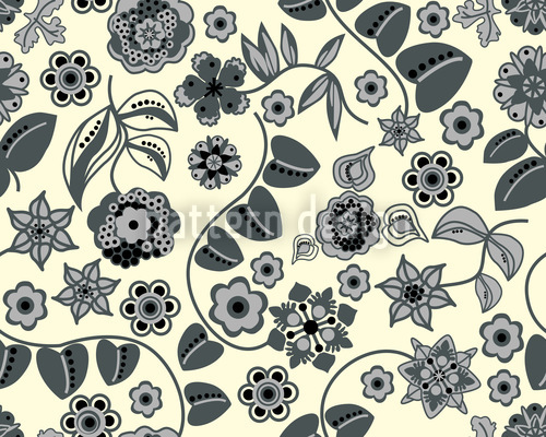 Floral Almrausch By Day Repeating Pattern