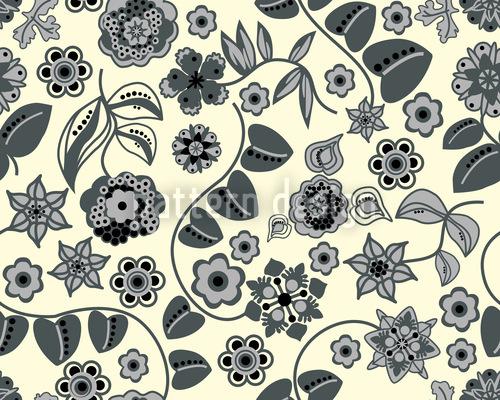 Floraler Almrausch Bei Tag Rapportiertes Design