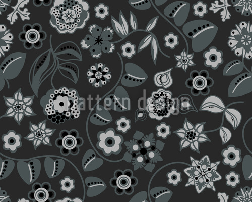Floral Almrausch At Night Repeat Pattern