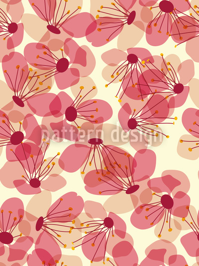 Blossom Rain On The Veranda Repeating Pattern