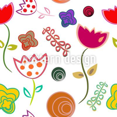 Anny Flirtet Mit Blumen Vektor Design