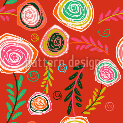 Crazy For Roses Pattern Design