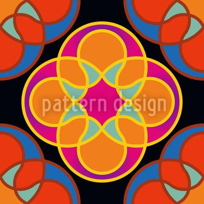 Sunny Kaleidoskop Musterdesign