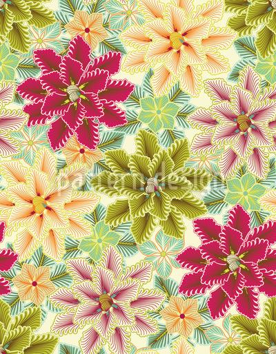 Nur Blumen Lieben Bedingungslos Rapportiertes Design