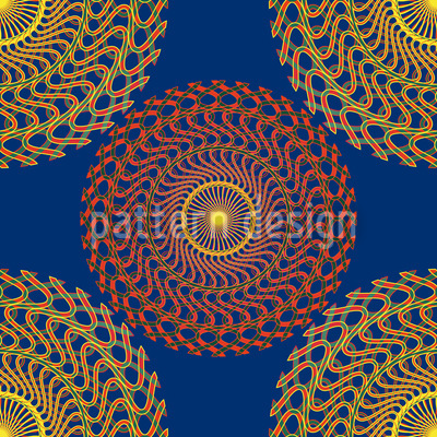 Sonnenkreise Auf Blau Designmuster