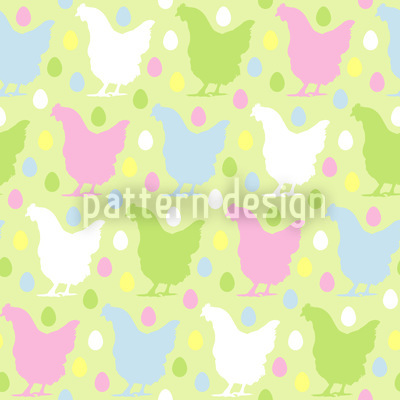 Egg Run In Henndorf Seamless Pattern