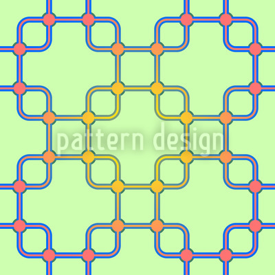 Connection Of Squares Seamless Pattern