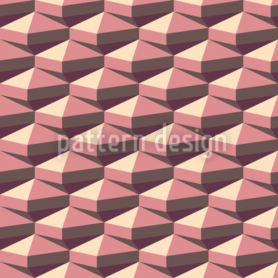 Octahedron Retro Vector Pattern