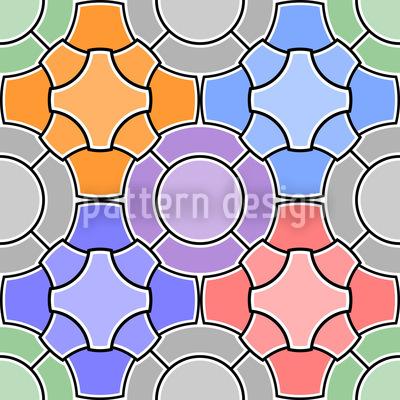 Mosaic Floral Design Pattern