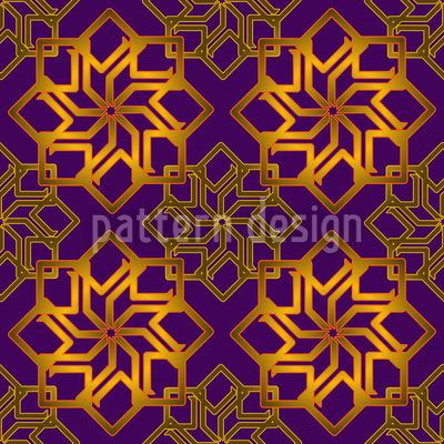 Sternengold Auf Violett Vektor Ornament