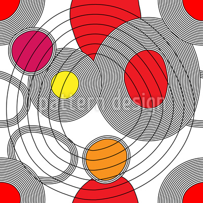 Circle Meeting Seamless Vector Pattern