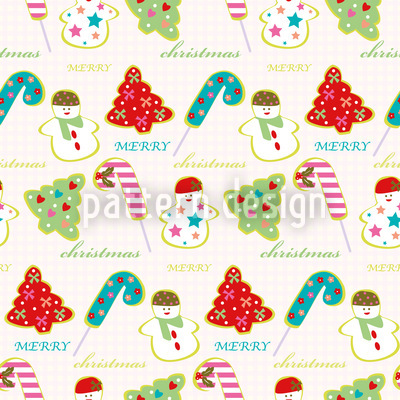 Sweet Christmas Seamless Vector Pattern