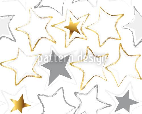 Sternennaht Im Schnee Rapportiertes Design