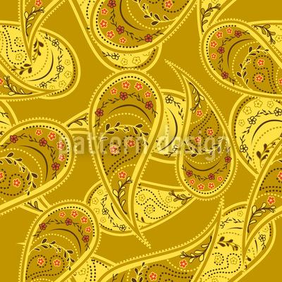 Goldrausch Der Paisley Vektor Ornament