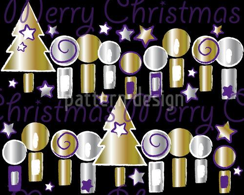 Kerzenschein Weihnacht Vektor Muster