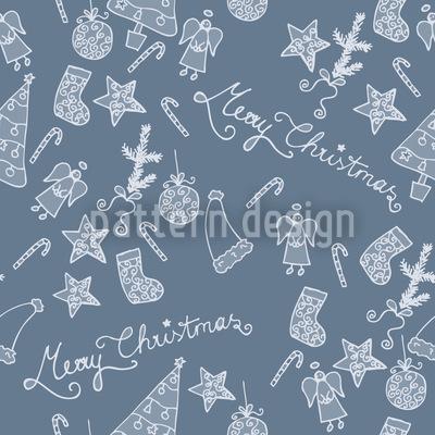 Frohe Weihnachten In Blau Vektor Ornament