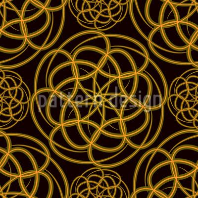 Goldene Räder Vektor Muster