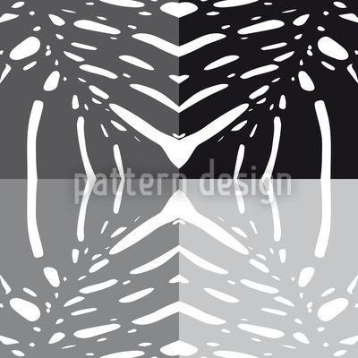 Monstera Grau Rapportiertes Design