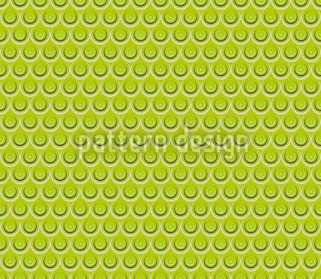Drop Drop Grass Green Seamless Vector Pattern