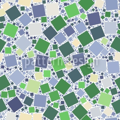 Purzelnde Mosaik Quadrate Vektor Design