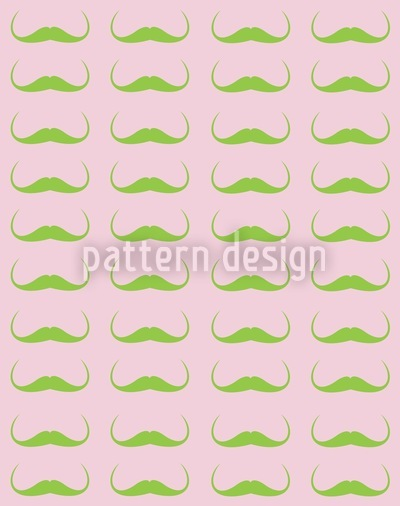 Monsieur Dalis Mustache Pattern Design