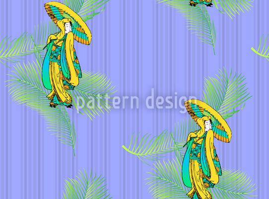 Geisha Tropical Design Pattern