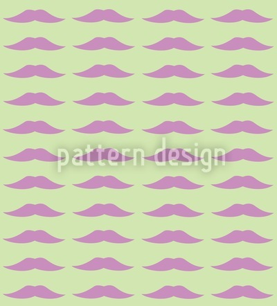Monsieur Poirots Mustache Repeating Pattern