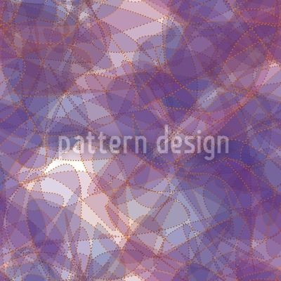 Golden Chain On Violet Silk Design Pattern