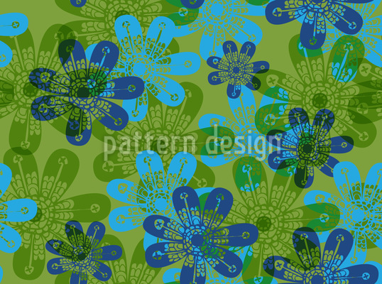 Flower Stamps Seamless Pattern