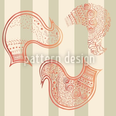 Dancing Birds Seamless Vector Pattern
