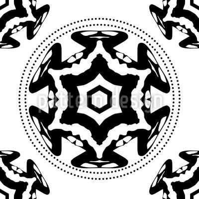 Im Kreis Des Schwarzen Sterns Rapportiertes Design