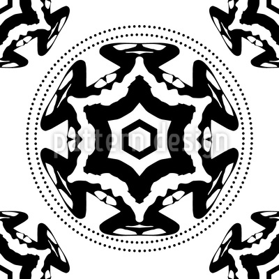 The Circle Of The Black Star Repeating Pattern