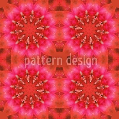 Pandora Flora Red Pattern Design
