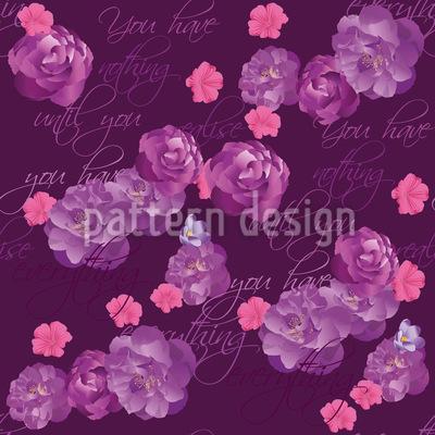Lasst Die Blumen Alles Sprechen Nahtloses Vektor Muster