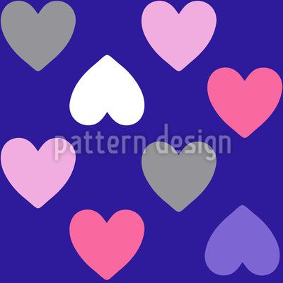 Purpur Herzen Nahtloses Muster