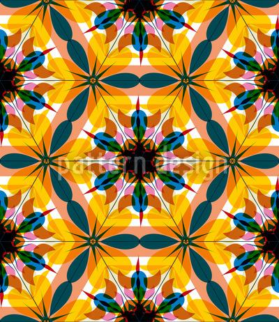 Kaleidoskop Extrem Bunt Muster Design
