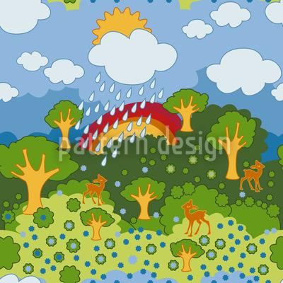 Regenbogen Wunderland Musterdesign