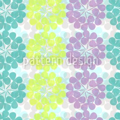 Clover Blossoms Pastel Pattern Design