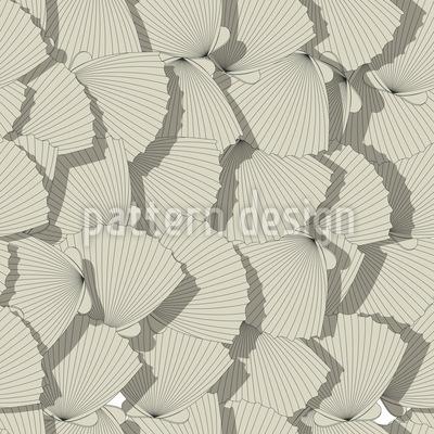 Sea Shell Fan Vector Pattern