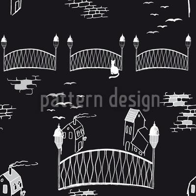 Kätzchenbrücke Bei Nacht Rapport