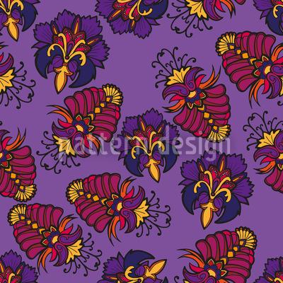 Üppige Flora Royal Muster Design