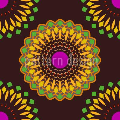 Hypnotic Flowers Vector Design