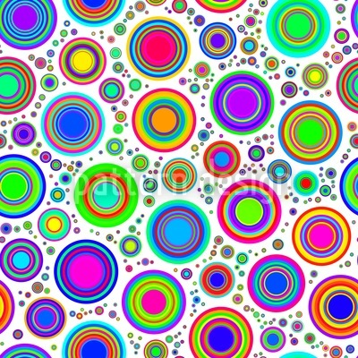 Neon Bubbles Repeating Pattern