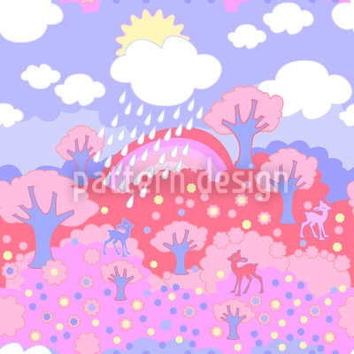 Regenbogen Wunderland Rosarot Vektor Ornament
